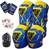 Innovative Soft Kids Knee and Elbow Pads with Bike Gloves | Toddler Protective Gear Set w/Mesh Bag& Sticker…