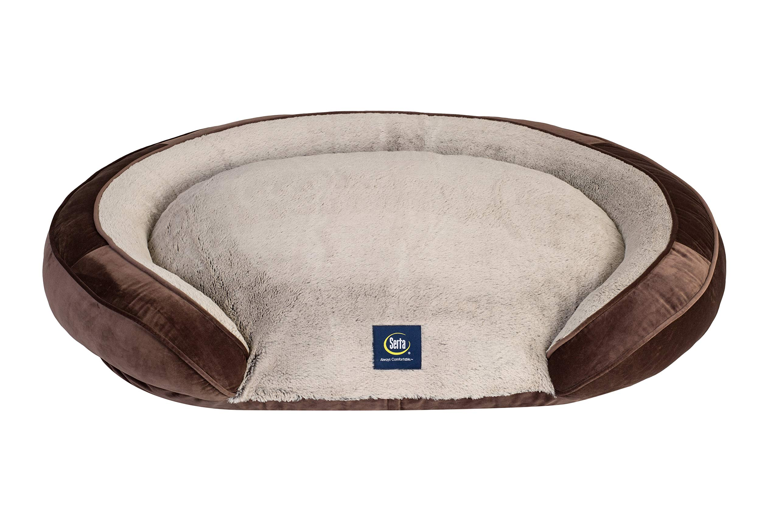 Serta Oval Couch, Brown, Large