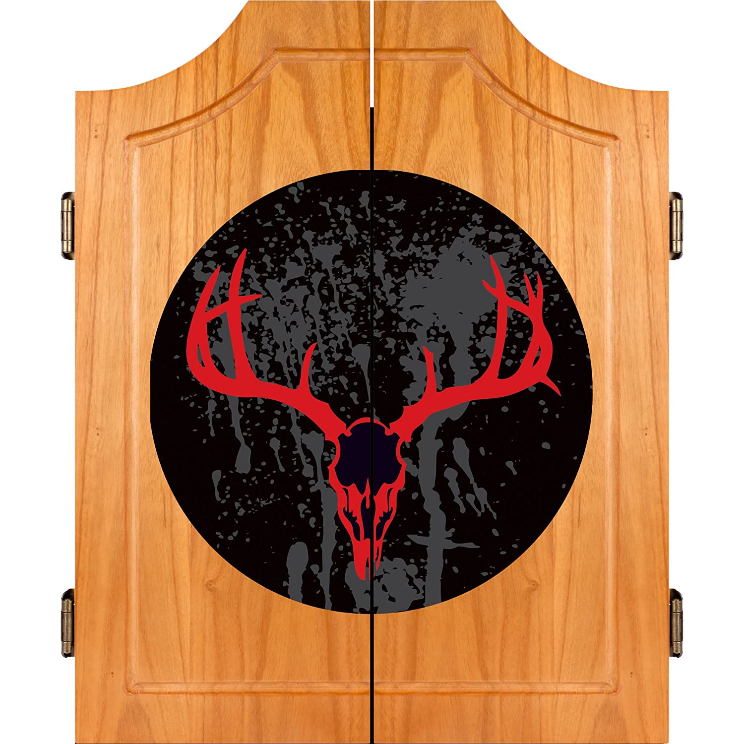 Amazon.com: Hunt Skull Madera Dart Gabinete Set: Sports ...