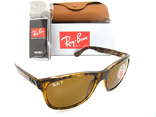 11b469d603 Authentic Ray-Ban Highstreet RB 4181 710 83 57mm Light Havana   Brown  Polarized  Amazon.co.uk  Clothing