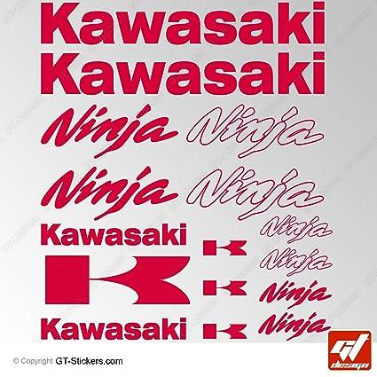 GT-Design Adhesivos de Kawasaki Ninja , color rojo, hoja de ...