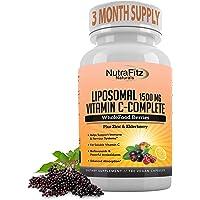 Liposomal Vitamin C Capsules with Zinc, Organic Elderberry, Amla, Camu Camu, Plus – High Absorption Vitamina C, Anti…