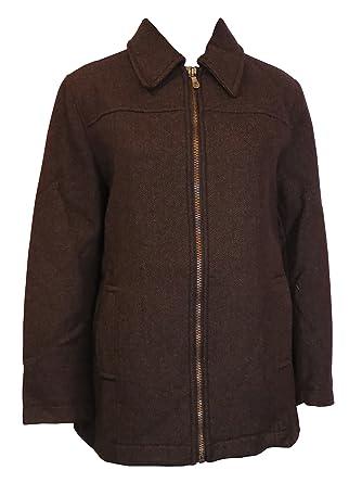 Calvin Klein - Chaqueta - para mujer marrón marrón Small: Amazon.es: Ropa y accesorios