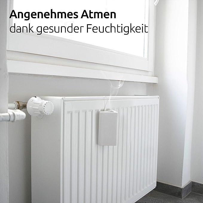 4 unidades evaporador de agua cuadrado para colgar radiador con gancho BonAura/® Humidificador y calefactor de cer/ámica