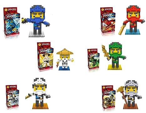 LOZ 6 Box-Ninjas Diamond Lloyd Master Black Mini Blocks (1350Pcs)