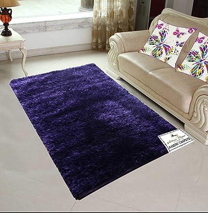 Avioni Handloom Rugs Carpets for Living Room in Fur Reversible Light and Dark Blue Double Shade -92 cm X 152 cm (3X5 Feet)