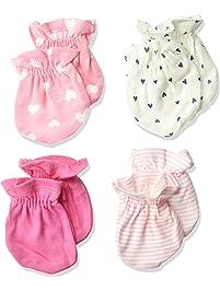 Gerber Baby Girls 4-Pack Mittens