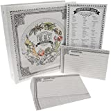 C.R. Gibson Recipe Binder Bundle Pocket-Pages 4x6 Cards Dividers Magentic Grocery Shopping Lists Notepad