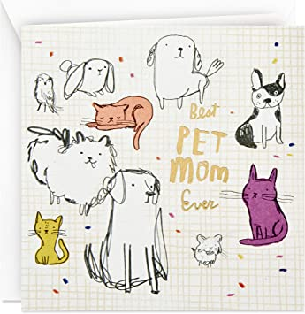 Mothers Day Card from Dog or Cat (Best Pet Mom Ever)