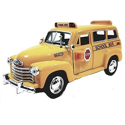 Kinsmart 1950 Chevy Suburban City School Bus 1/36 Scale Diecast Commercial Passenger Vehicle: Beauty