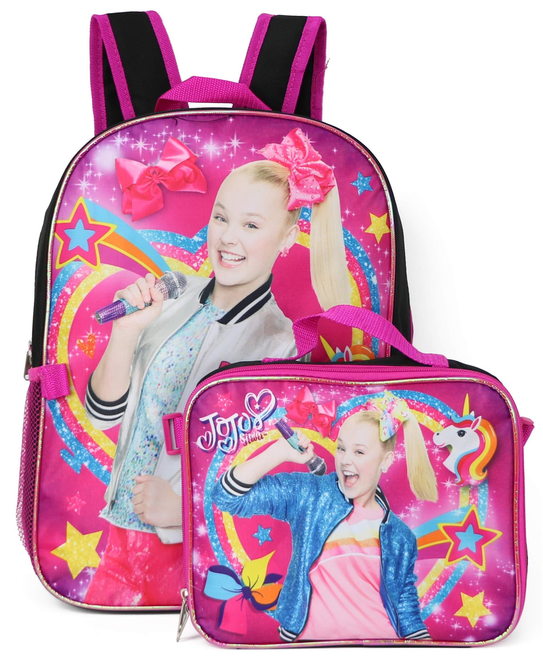 Nickelodeon Jojo Siwa Backpack Lunchbag Set (Rainbow) by Nickelodeon