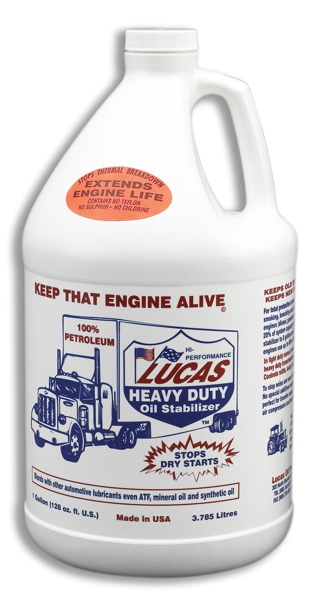 Lucas Oil 10002 Heavy Duty Oil Stabilizer - 1 Gallon (Case of 4) by Lucas