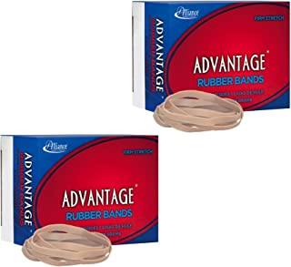 "product image for (2-Pack) Alliance Rubber 26649 Advantage Rubber Bands, Size #64, 1/4 lb Box Contains Approx. 80 Bands (3 1/2"" x 1/4"", Natural Crepe)"