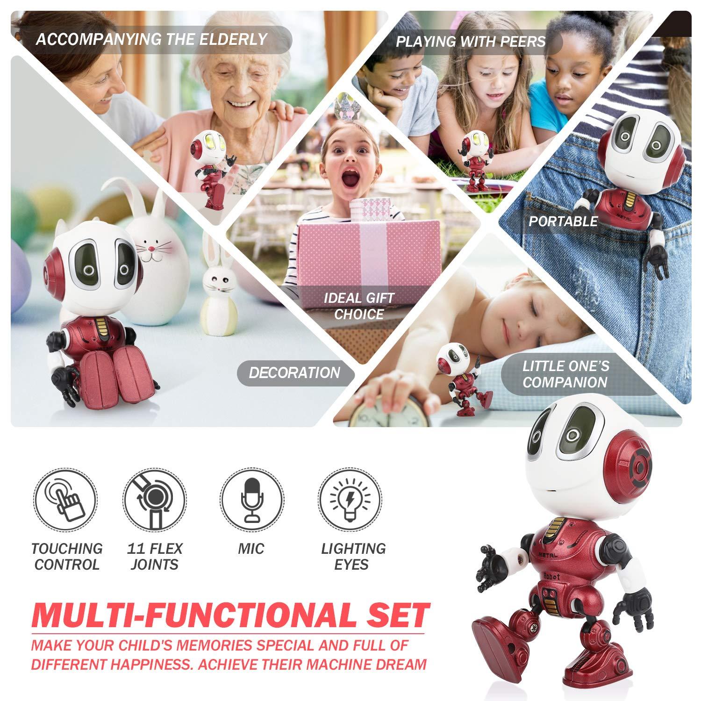 Peradix Roboter Kinder Spielzeug Spaß Aufnahme , Intelligenter Roboter Bildung Spielzeug für Kleinkinder Kinder , Elektronisches Spielzeug Geburtstag Geschenke für 3-12 Jahre