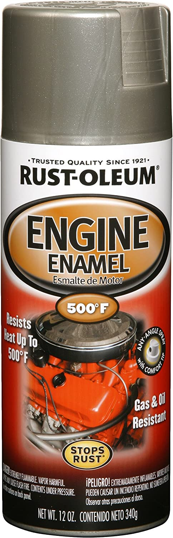 Rust-Oleum 248949 Automotive Rust Preventive Engine Enamel Spray Paint, 12 Oz Aerosol Can, Aluminum, 11 oz
