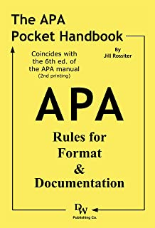 amazon com publication manual of the american psychological rh amazon com apa publication manual 6th edition second printing Cover Page APA 6th Edition