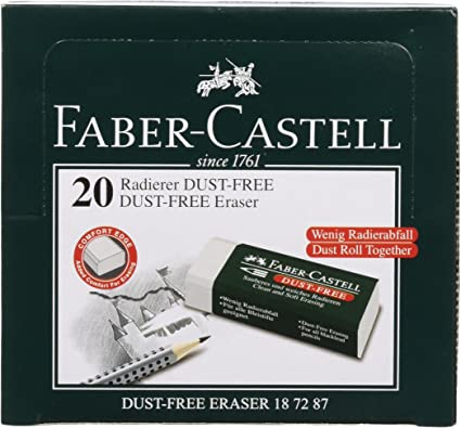Faber Castell 188121 - Caja con 20 gomas de borrar 7081 N, para ...
