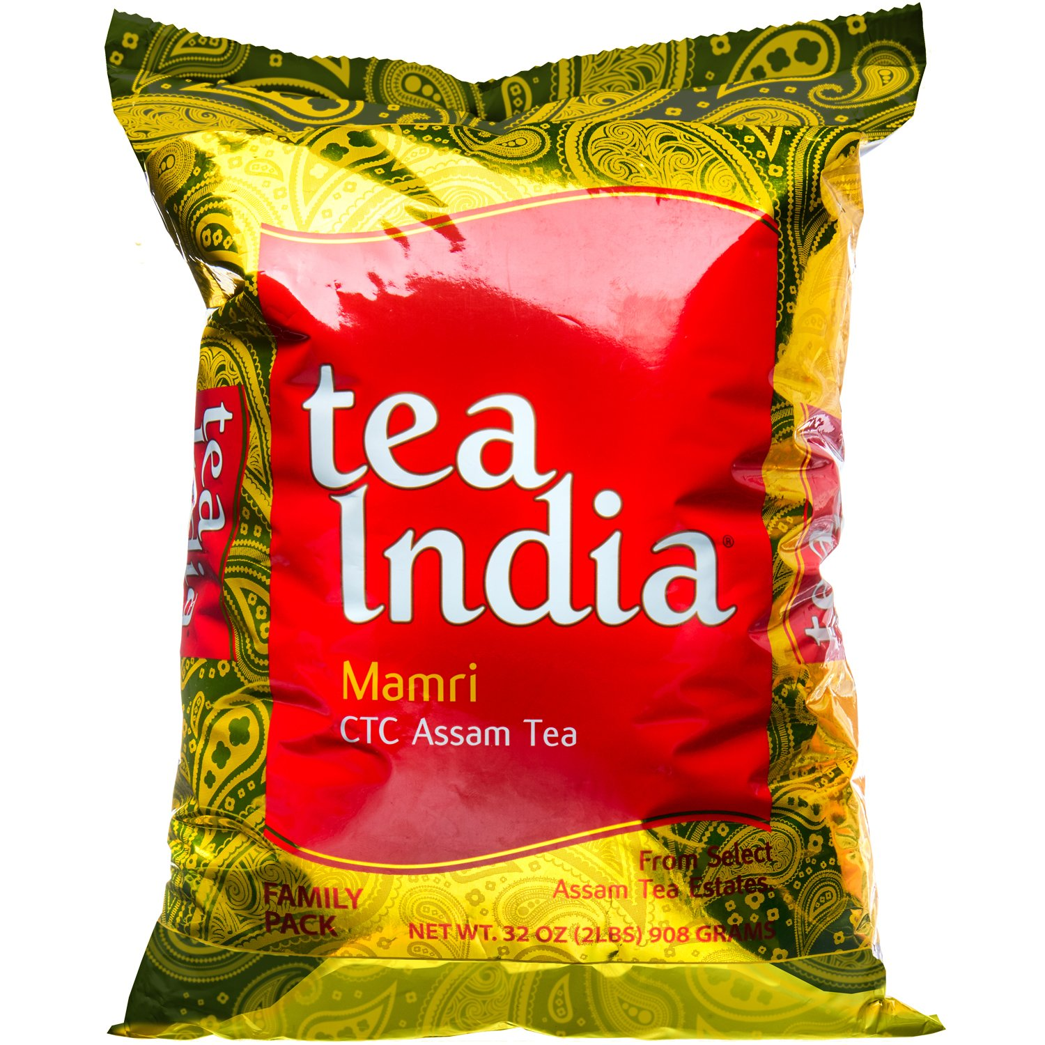 Tea India Premium CTC Assam Loose Black Tea, 2lbs. Packaging May Vary. by Tea India