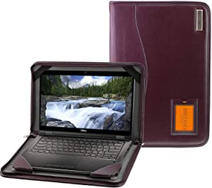 Broonel - Contour Series - Purple Heavy Duty Leather Protective Case Compatible with The Dell Inspiron 13 7000 13.3 Inch 2-in-1 Laptop