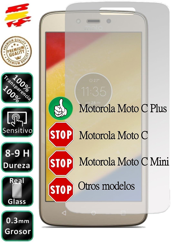 Movilrey Protector para Motorola Moto C Plus 4G 5.0 Cristal ...