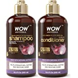 WOW Red Onion Black Seed Oil Shampoo & Conditioner Kit Increase Gloss, Hydration, Shine - Reduce Itchy Scalp, Dandruff…