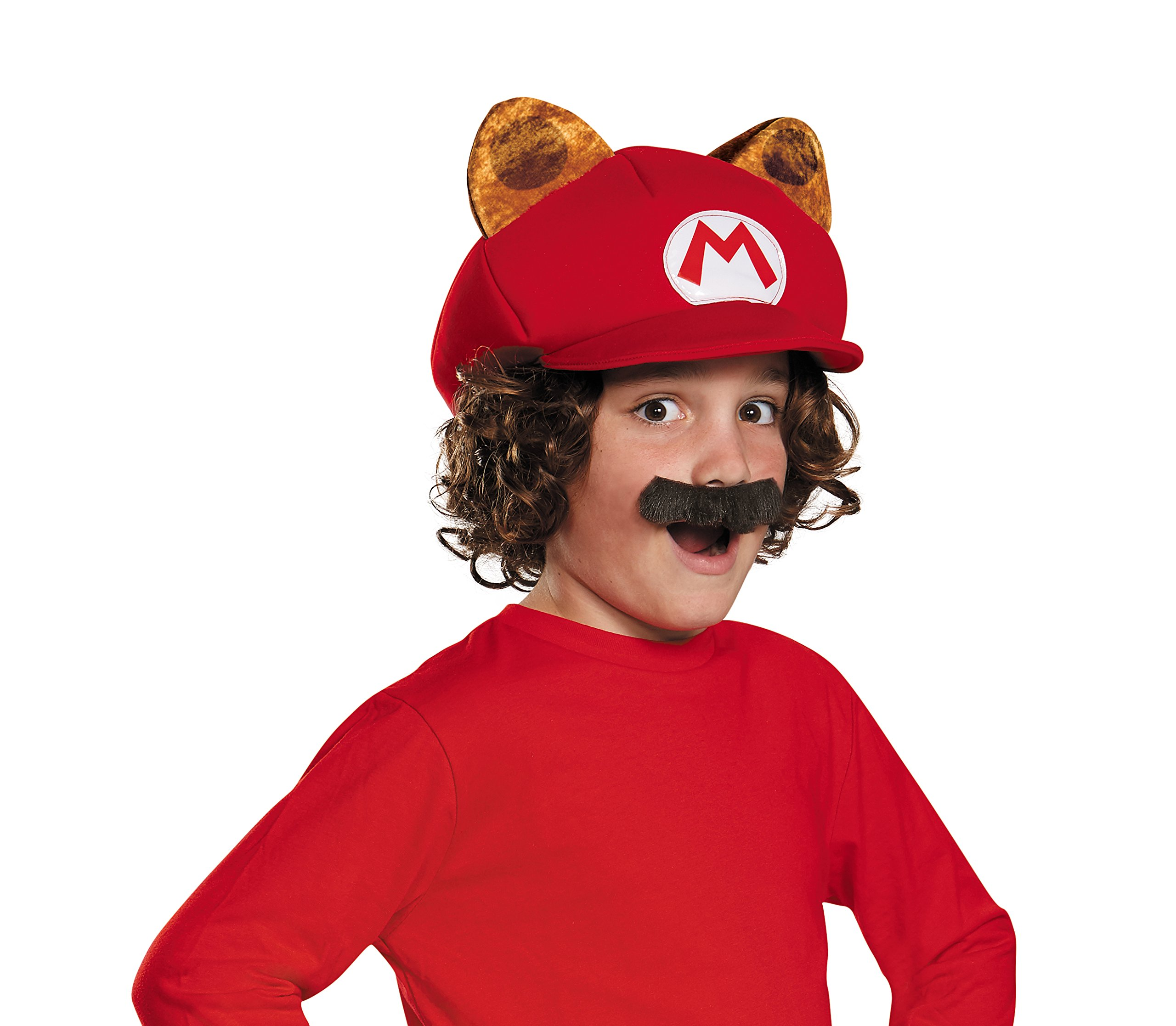 Racoon Super Mario Bros. Nintendo Child Hat & Mustache, One Size Child by Disguise