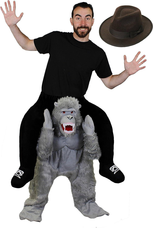 Gorila Pick Me Up +Exploradora Sombrero Para Disfraz con Peluche ...