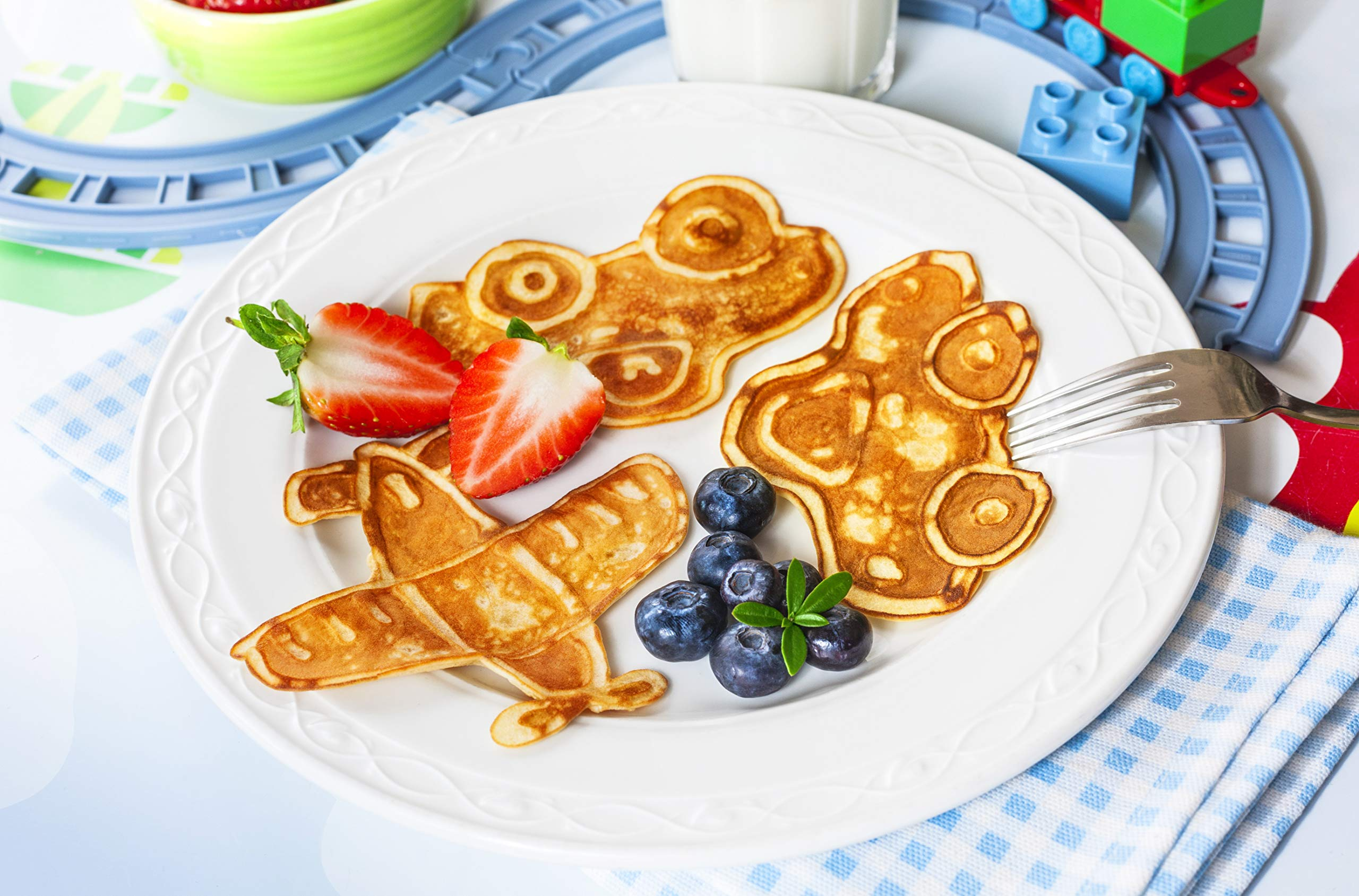 Pancake Party! The Ultimate Pancake Art Making Set for Kids - SUMMER SALE! / REG $35.95 Excellent culinary educational gift for children, young bakers, chefs! baking, cooking kit for boys and girls! by Made for Me (Image #9)