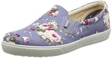 c2c3a90f Hotter Women's Tara Boat Shoes, Multicolour (Lilac Floral), 7 UK 41 ...