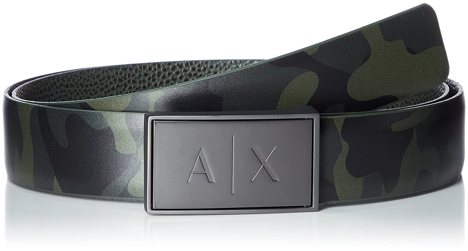 Armani Exchange Men's Camouflage Belt Camouflage Black TU 9510788P059