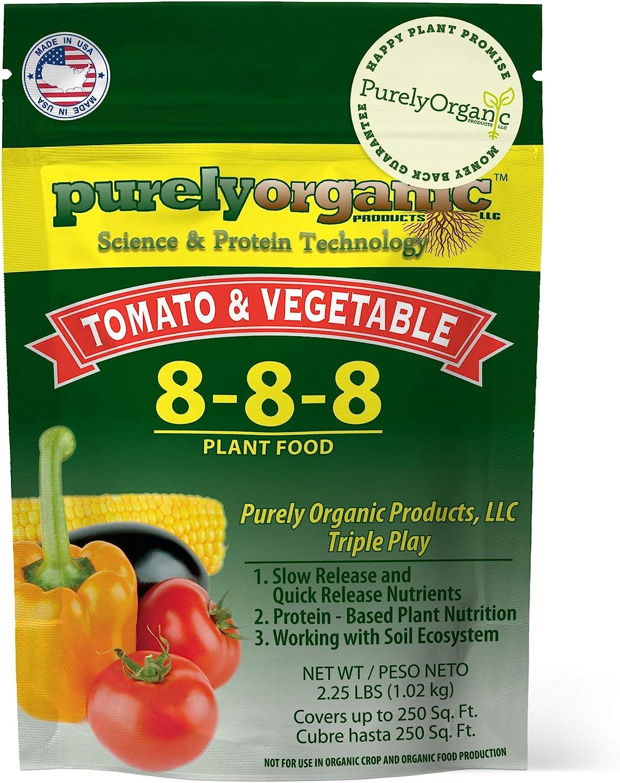 Purely Organic Tomato & Vegetable Plant Food, 8-8-8