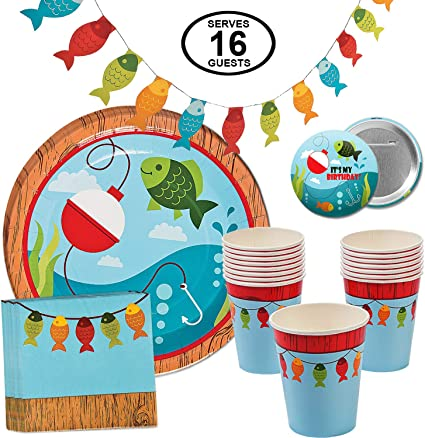 Amazon.com: Fisherman - Pack de 16 platos de mesa para ...