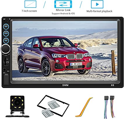 "7/""2 Din Car Radio DVR-in TF MP5 Player AUX Stereo BT Head Unit FM+Camera"