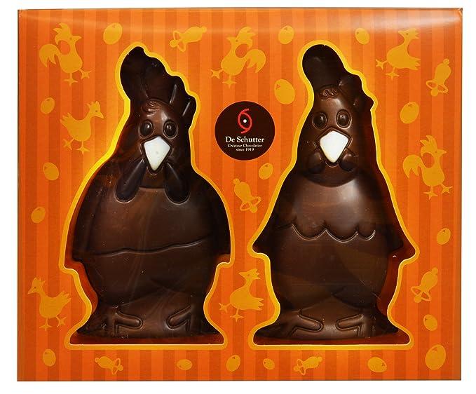 4 x 60 Gramos - De Shutter Case con 4 figuras de Pascua Conejos Gallinas en
