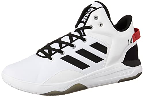 best website 2e560 a7379 adidas neo Mens Cloudfoam Revival Mid Star War Ftwwht, Cblack and Scarle Basketball  Shoes -
