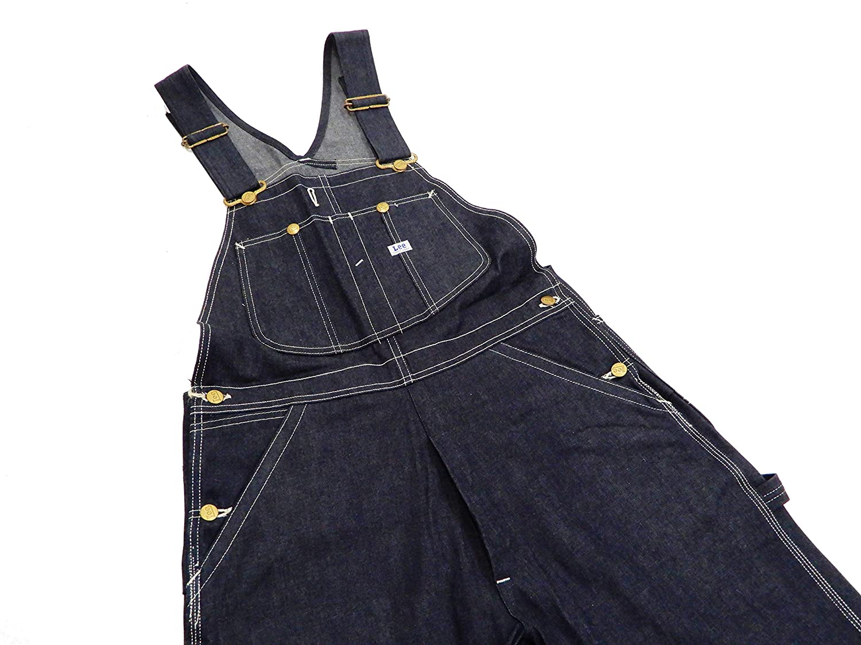 66b33a8b LEE Men's Denim Bib Overalls Reproduction Vintage 1940s 91-SB Overall at  Amazon Men's Clothing store: