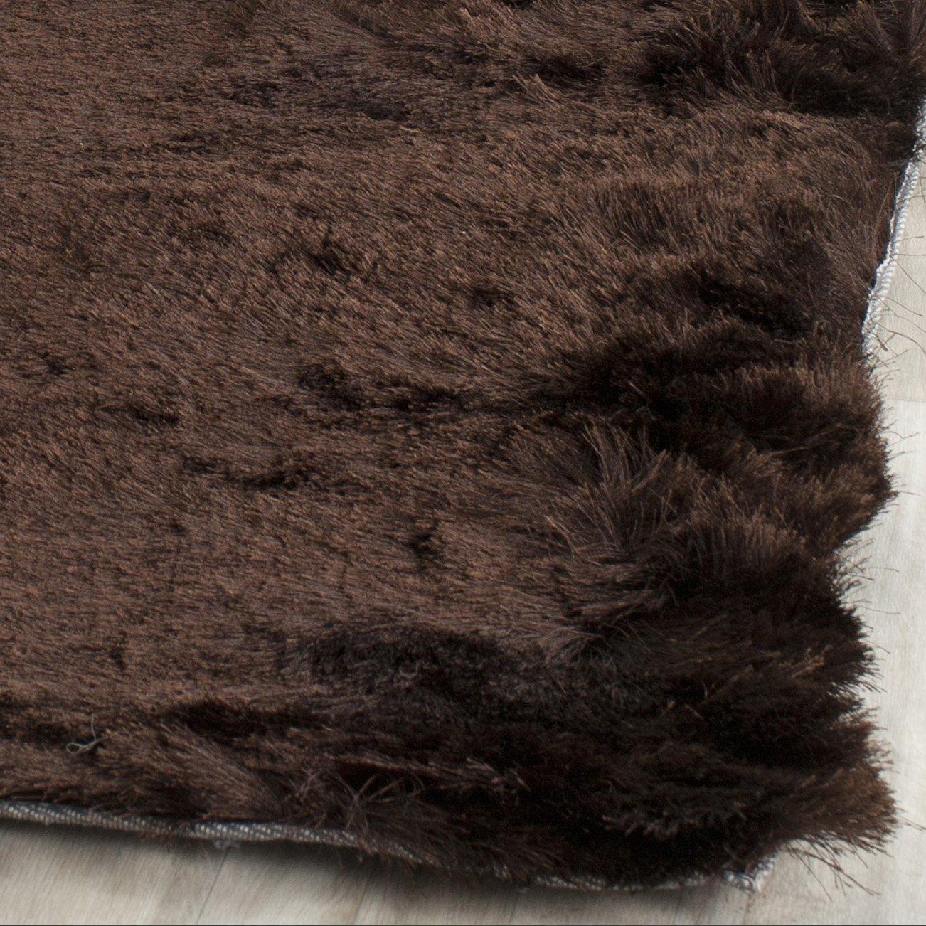 amazoncom safavieh paris shag collection sg5112727 chocolate polyester area rug 2u0027 x 3u0027 kitchen u0026 dining