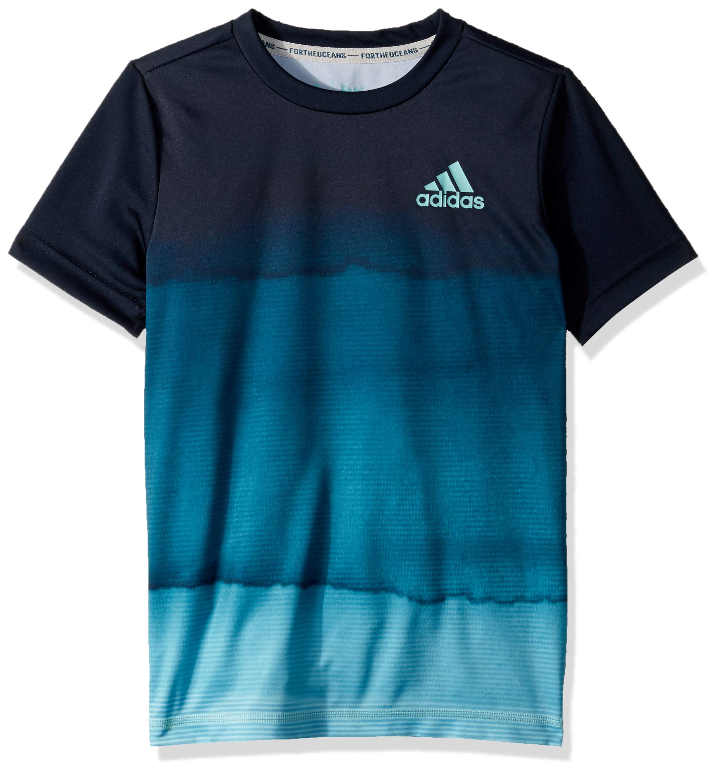 adidas Youth Boys Parley Printed Tee, Legend Ink, X-Small