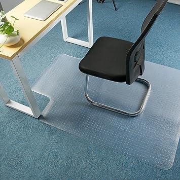 Premium Clear Chair Mat Carpet Protection Mat , Low / Medium Pile Computer Chair  Floor Protector