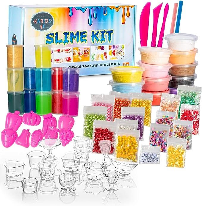 Karids Slime Kit Slimes Reales, Arcillas, Moldes, Herramientas y ...