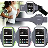 For Huawei P9 Sports Armband, Black Sweat-Free,Gym,Running,Jogging,Walking,Hiking,Workout and Exercise Armband For Huawei P9 with Extra Adjustable-Length Extension Band