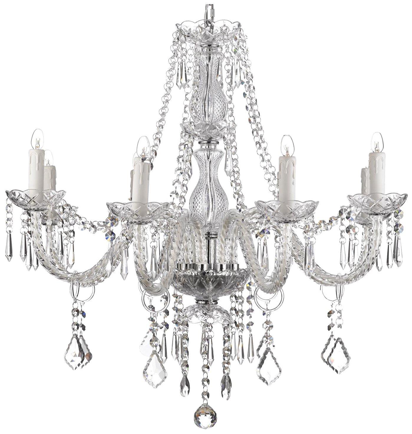 Crystal chandelier lighting 28ht x 28wd 8 lights fixture pendant crystal chandelier lighting 28ht x 28wd 8 lights fixture pendant ceiling lamp amazon arubaitofo Images