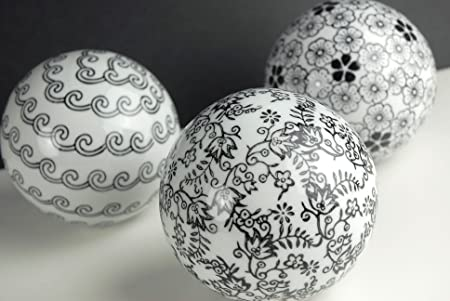 Porcelain Decorative Balls Black White 40 Set Of 40 Balls Amazon Unique Black And White Decorative Balls