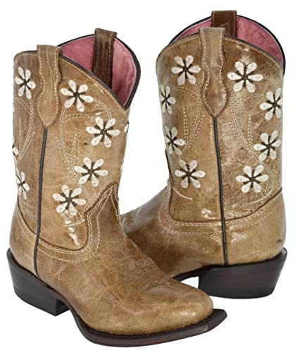 Girls' Betseyville Reece Floral Embroidered Cowboy Boots - Stone ...