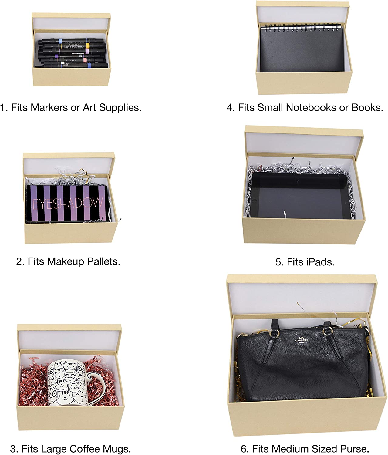 Rigid Lid Durable Reusable For Gift Wrapping Holiday Present Christmas Birthday Party Assorted S-XL UNIQOOO 10Pcs Black Nesting Gift Boxes Set Cardboard Rectangle Storage Organizer Florist Rose Box