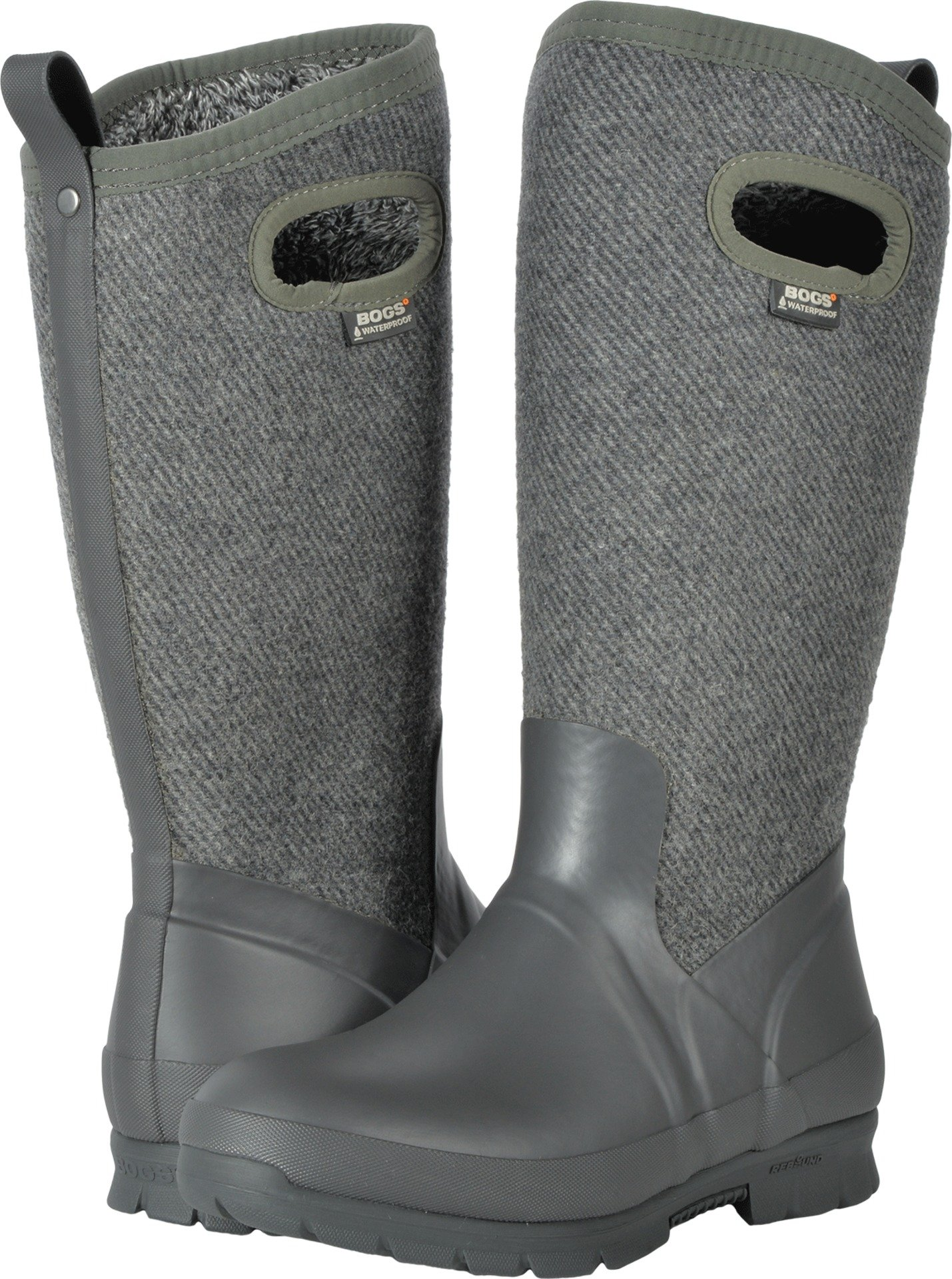 Bogs Outdoor Boot Women Crandall Wool Pull On 7 M Dark Gray Gold 72108