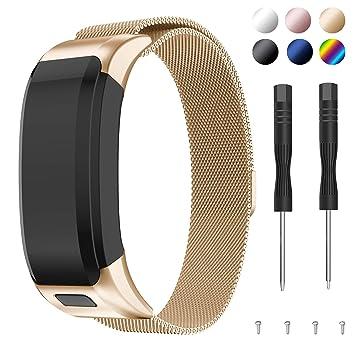 SUPORE Kompatibles Garmin Vivosmart HR Armband Uhrenarmband, Milanese-Ersatzschlaufe Magnetische Verschluss Mesh Edelstahl mi