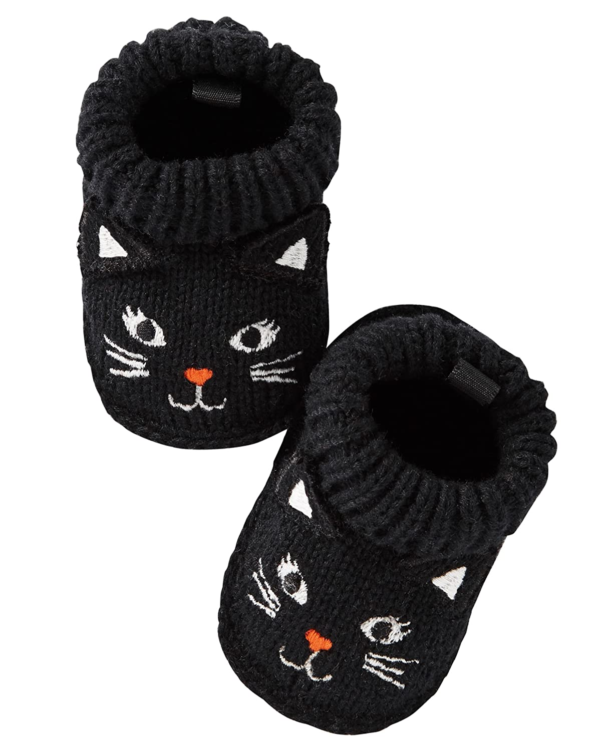 Carter's Baby Crocheted Halloween Booties Black Kitty) Carters