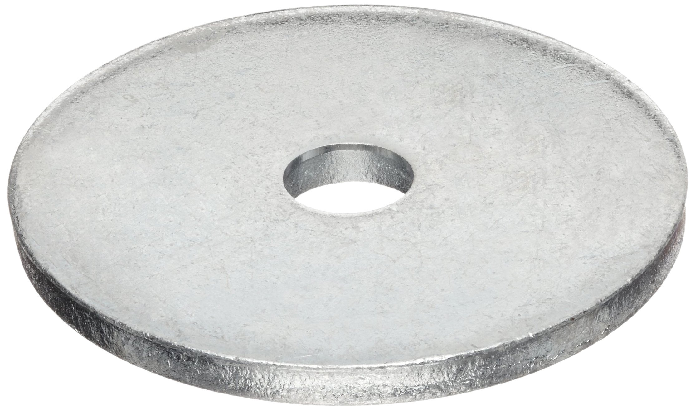 Carbon Steel Type B Flat Washer, Meets ANSI B18.22.1, 5/16'' Hole Size, 0.563'' ID, 3'' OD, 0.250'' Nominal Thickness, Made in US