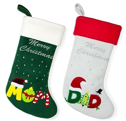 red bene family christmas stockings mom dad set of 2